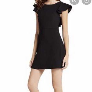 AQUA Ruffled V-Back Body-Con Dress  Size M